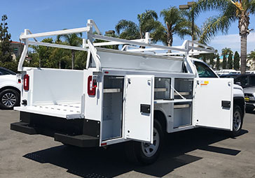Commercial Vehicle With Custom Shelf Exterior